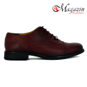 Ghete dama din piele naturala - Bordo Box - 335 BB
