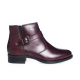 Ghete dama din piele naturala - Bordo Box - 498 BB