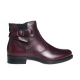 Ghete dama din piele naturala - Bordo Box - 372 BB